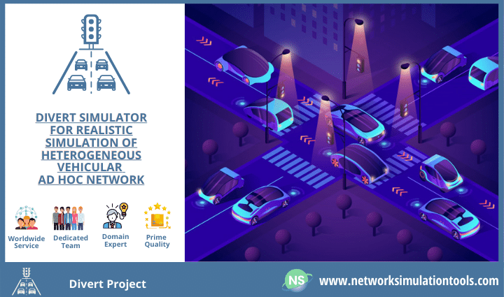 Divert Projects on realistic simulation of ad hoc network