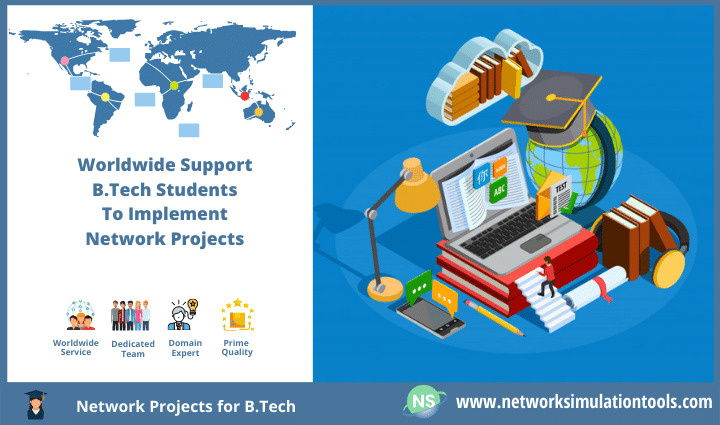 Guidance to implement Network Projects for B Tech Students