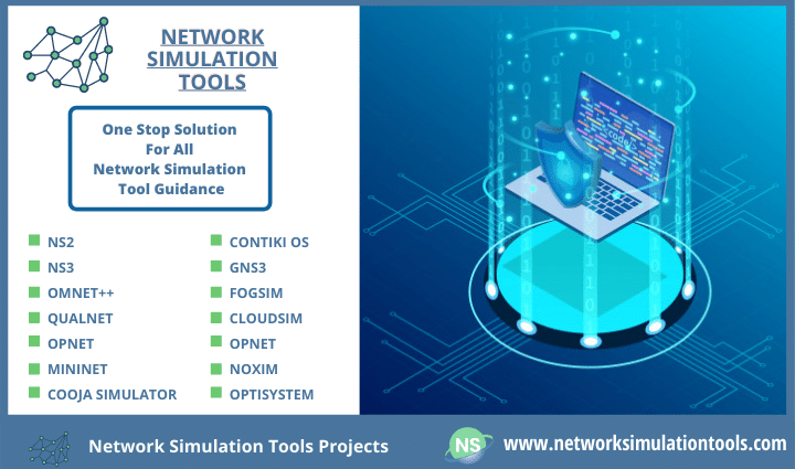 Step by step implementation of network simulation tools projects with source code